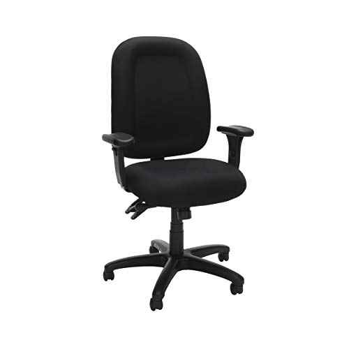 OFM Ergonomic Task Chair with Arms, Mid Back, in Black (125-805)