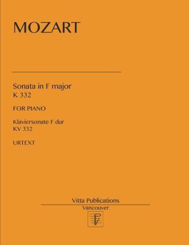 Sonata in F major: K 332. Urtext