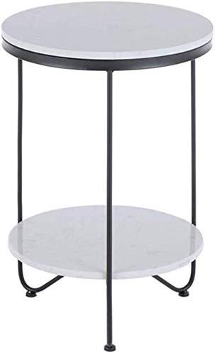 Salontafel WGZ- bureau dubbele plank, rond marmer balkon buitenshuis decoratieve verplaatsing multifunctioneel tafel statafel 40 cm * 60 cm eenvoudig
