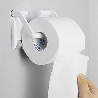 مغناطيس بلاستيك لفة ورق حامل الحائط مثبت ذاتي اللصق لا حفر المطبخ الحمام منشفة الحمام رفوف ورق التواليت