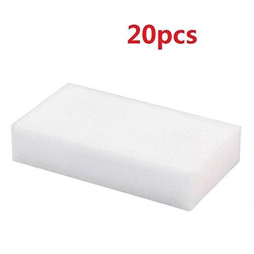 Melamin Magic Foam Schwamm - Radiergummi Staubtuch für Auto, Pack: Weiß
