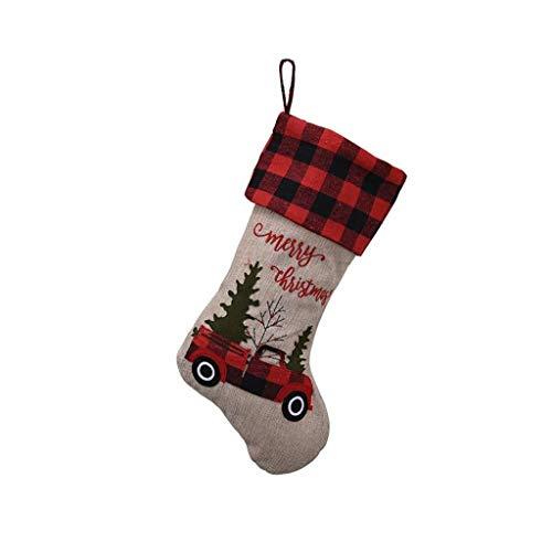 GHJU Weihnachtsmann Socke Geschenk Weihnachtsstrümpfe Hängende Ornamente Geschenkhalter Kinder Candy Bag Weihnachten Weihnachtsbaumschmuck Qingqiao