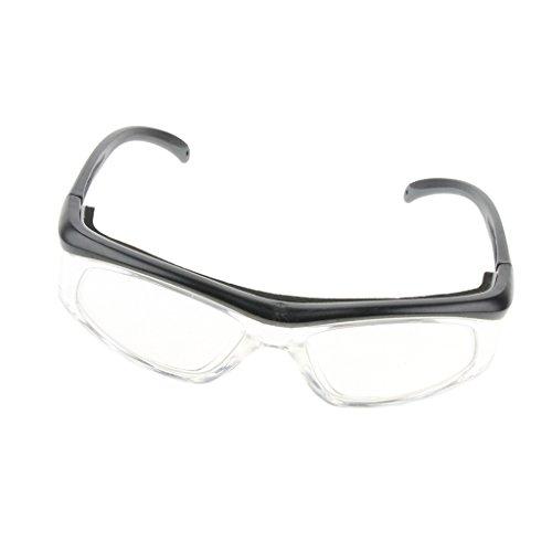 Gafas De Seguridad De Laboratorio Gafas De Protección Ppe Lentes ópticas Negro Reemplazable - Gris oscuro