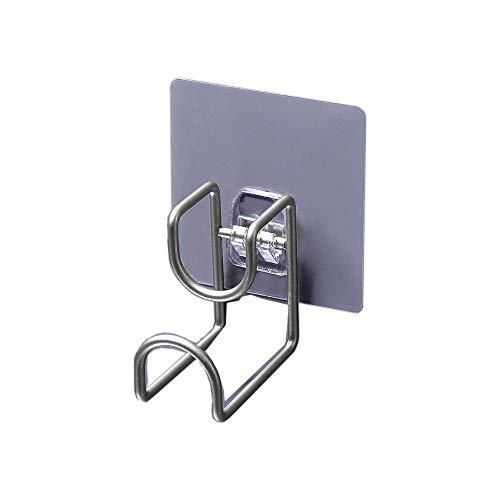 Lavabo Bastidor de almacenamiento Colgador de lavabo Ganchos organizadores de baño Ganchos de pared autoadhesivos Ganchos de suspensión ahorradores de espacio para cocina Baño Antióxido#CYPGJ (Plata)