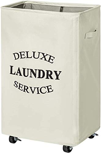 WOWLIVE 90L Rolling Laundry Hamper on Wheels Laundry Hamper for Laundry...