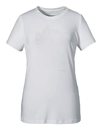 Schöffel Bad Reichenhall3 T-Shirt Femme, Bright White, FR : L (Taille Fabricant : 40)