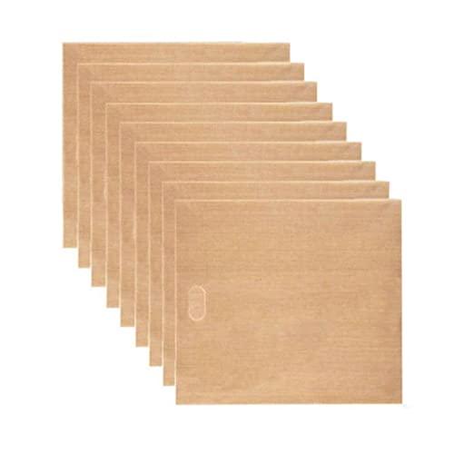 NIDONE Bolsas de tostadora reutilizables antiadherentes, bolsas de bocadillo para pan y bocadillos para queso a la parrilla, 9 unidades