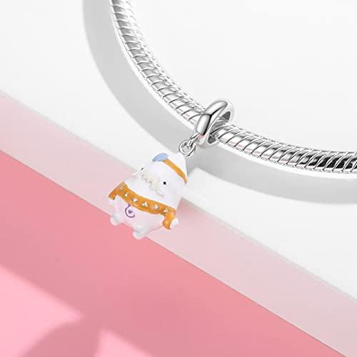 Plata De Ley 925 con Cuentas Elf Kingdom Tribal Doll Knight Mage Cute Cartoon Character DIY Charms...