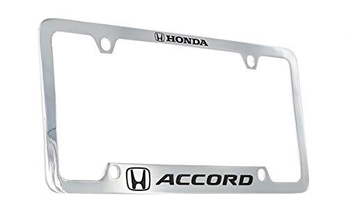 Honda Accord Wordmark Metal License Plate Frame Holder (chrometwo)