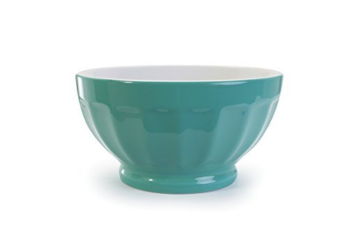 BIA Cordon Bleu Stoneware Fluted 16 ounce Bowl - Teal - Set of 4