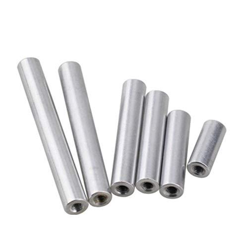 5-10 unids/lote M2 M2.5 M3 M4 M5 M6 * L Espaciador de separador de aluminio redondo Stud extendido tuerca larga L = 6 a 100-M2 10PCS, 50mm