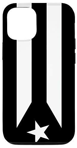 iPhone 12/12 Pro Puerto Rico Resiste Black Flag Protesta Boricua Pride Cover Case