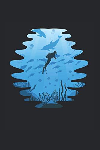 Taucher Im Meer: Tauchen Notizbuch Mit 120 Linierten Seiten (Linien) Inkl. Seitenangabe. Als Geschenk Eine Tolle Idee Für Taucher Und Scuba Diver