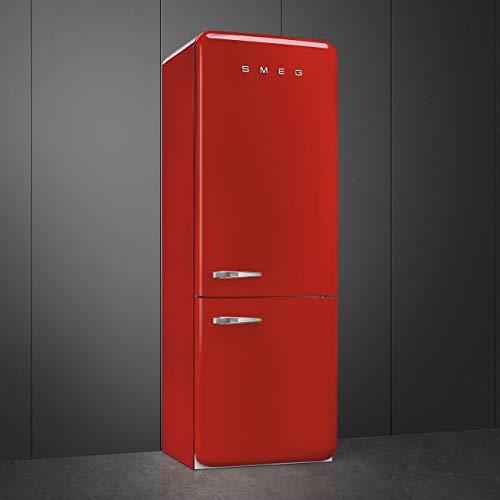 Smeg Bisagra derecha FAB38RRD 70/30 para frigorífico congelador, color rojo