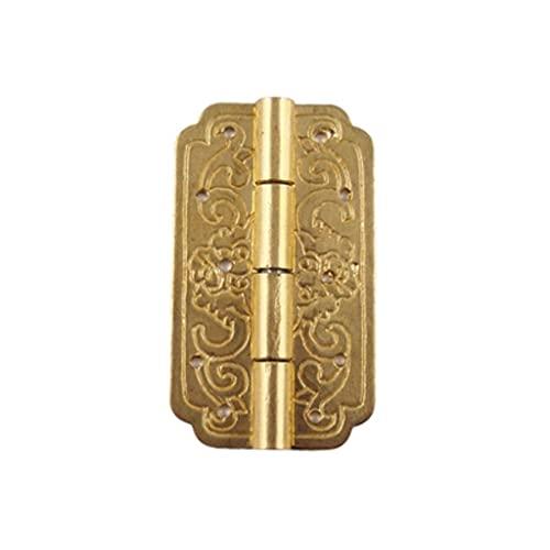 YUTRD ZCJUX 2 PCS bisagras de Oro Hierro Decorativo Vintage joyería de Madera Caja de Regalo Caja de Vino Accesorios de Muebles (Color : Gold)
