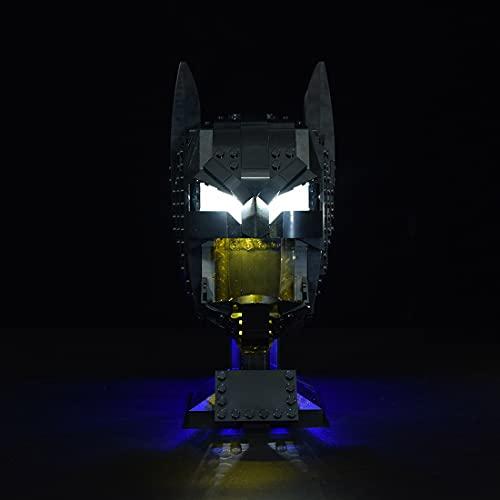 SESAY Juego de luces personalizadas para máscara de Batman Lego 76182, juego de iluminación LED compatible con Lego 76182 (sin juego de Lego)