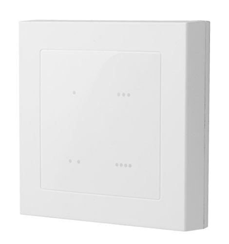 LUPUSEC 12102 Szenarienschalter V2 für XT Smarthome Alarmanlagen (außer XT1), 4 Touchbuttons mit LED-Anzeige, batteriebetrieben, löst Szenario bis 5 Automationsbefehle aus, Weiß, 84 x 84 x 18 mm