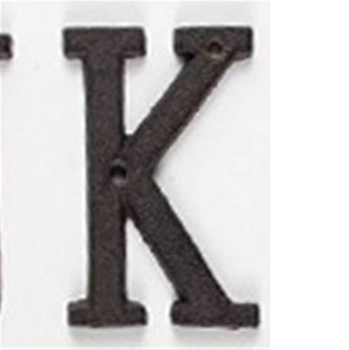 BENOHAOH A-Z Casa Número de Letras Placa de Puerta Moderna Grande, DIY DIY Decoración al Aire Libre Números de Metal Dirección Placa Dash Slash Signos (Color : K)