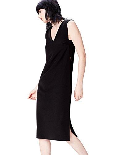 Marca Amazon - find. Vestido Geométrico con Aberturas Laterales para Mujer