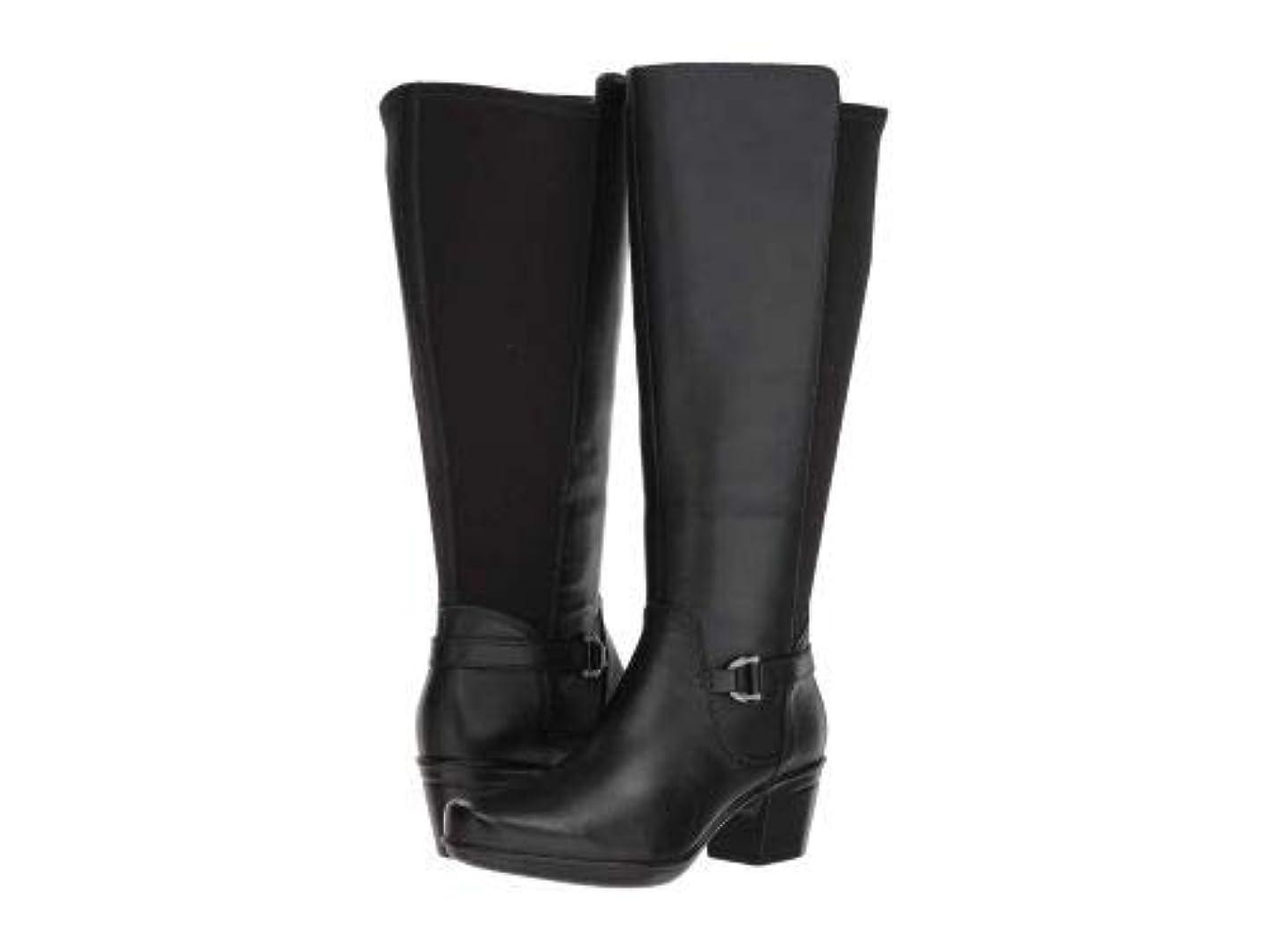 動開発する失態Clarks(クラークス) レディース 女性用 シューズ 靴 ブーツ ロングブーツ Emslie March Wide Calf - Black Leather [並行輸入品]