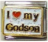 Clearly Charming I OFFicial mail order Heart My Link Godson Bracelet Charm 35% OFF Italian