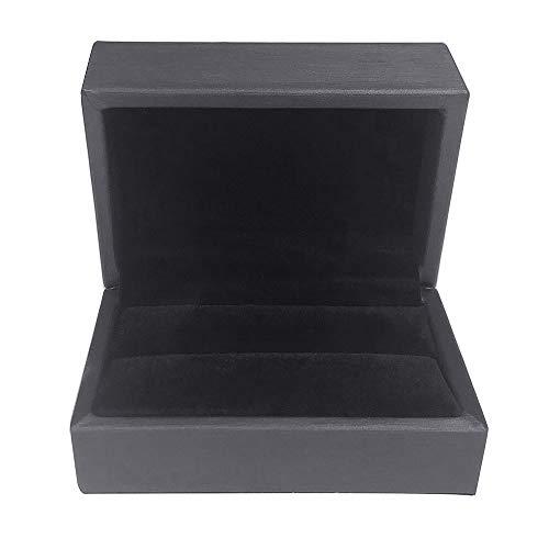 DesignSter Dubbele Zwarte Ring Box Perfect voor Ring, Oorbellen, Broche of pin, of om het even welk ding Sparkle om weer te geven