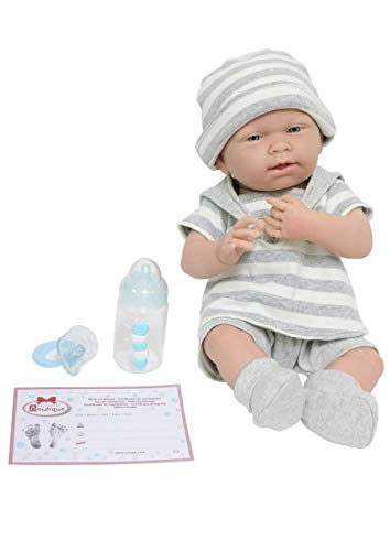 "JC Toys 18519 La Newborn Baby Play Dolls, 15"", Grey/White"