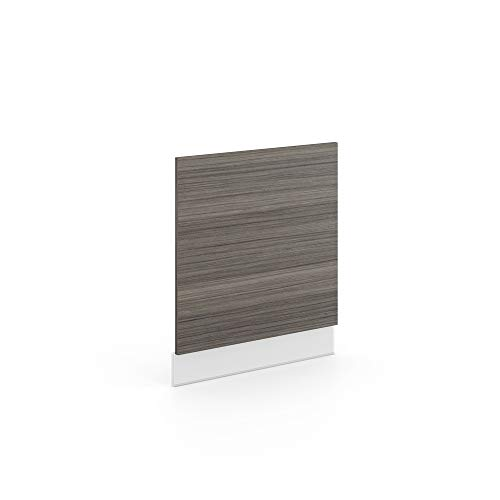 Vicco Küchenschrank Hängeschrank Unterschrank Küchenzeile Hochglanz Fame-Line (Edelgrau, Geschirrspülerblende 60 cm)