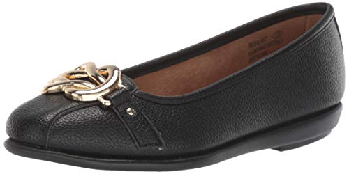 Aerosoles Women's Big Bet Ballet Flat, Black, 10 W US