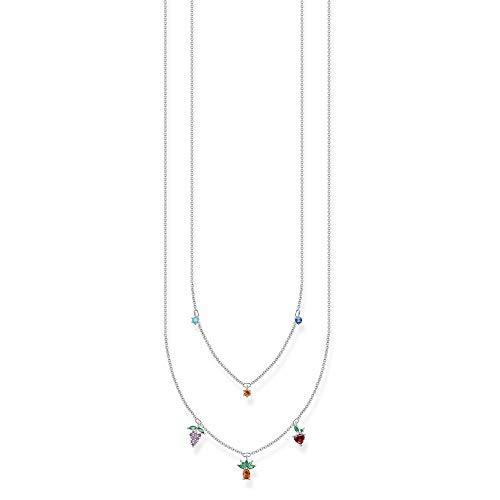 Thomas Sabo Charm Club Silver Zirconia Multicoloured Fruits Necklace KE2098-477-7-L45V