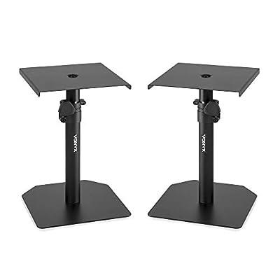 VONYX Studio Monitor Stand Set Adjustable Height Home HiFi Speaker Desktop Stands