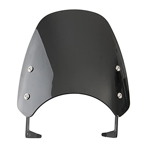 YINZHI Motorcykel Kolfiber Classic FlyScreen Windscreen Windshield Fit för Triumph Bonneville Scrambler 1200 XE/XC/Var 2019-2021 2020 (Color : Black)