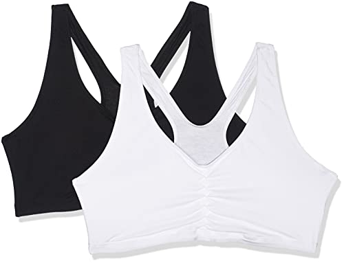 Hanes Women's Stretch Cotton Low Imact Sports Bras - 2 Pack,...