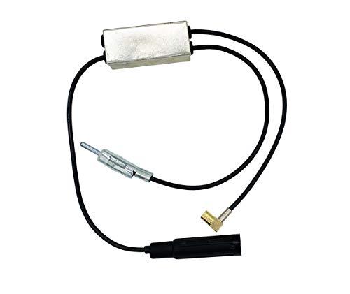 Vecys Dab FM Antenna Splitter Amplificador Antena Coche SMB Hembra a DIN Macho a DIN Hembra Adaptador Convertidor Compatible con Am/FM/Dab + Antena Radio Coche Clarion JVC Alpine