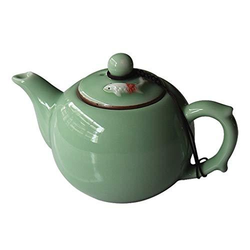 ROEWP Teteras teapot 180 ml / 6,1 oz Tetera de la Porcelana Bright Jade Verde de cerámica Globo Tetera de China Fina Tradicional Gres Tea Pot con infusor