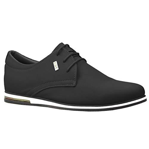ClassyDude décontractée para Hombre de Ante Smart Formelle-Zapatos con Cordones, Negro (Negro), 9 UK