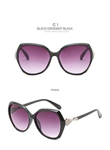 Gafas de Sol Gafas De Sol De Verano para Playa Y Arena para Mujer, Gafas Retro De Marca, Gafas DeSol De Mariposa A La Moda paraMujer,Uv400 C1