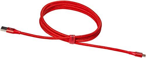 Amazon Basics - Verbindungskabel, USB Typ C auf USB Typ A, USB-3.1-Standard der 1. Generation, doppelt geflochtenes Nylon, 1,8 m,Rot