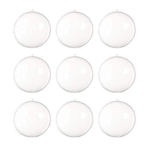 DOITOOL Lot de 30 boules transparentes à remplir pour sapin de Noël, boules de bain, boules vides à suspendre, boules à savon 50 mm