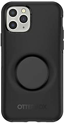 Otter + Pop for iPhone 11 Pro: OtterBox Symmetry Series Case with PopSockets Phone Grip and Phone Stand, PopGrip, Collapsible, Swappable Top, Black and Aluminum Black