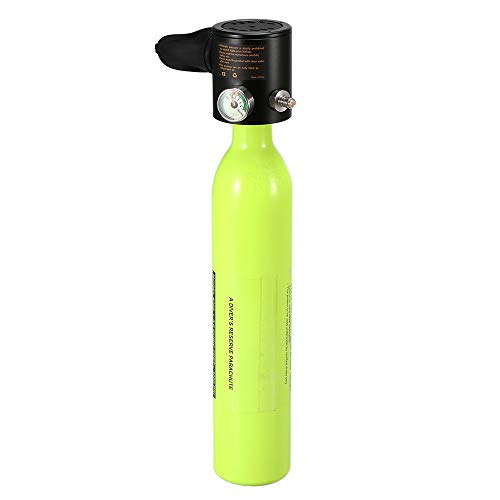 Blusea Respirador de Buceo con Tanque de Aire de Buceo con Cilindro de oxígeno de Buceo de 0,5 l Buceador respirador con medidor Equipo de respiración para Snorkeling