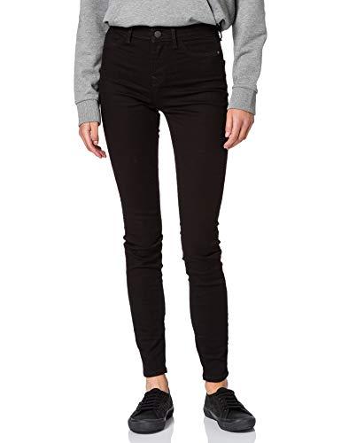 edc by ESPRIT Damen Superstretch Jeans, 910/BLACK Rinse-New, 28W / 30L