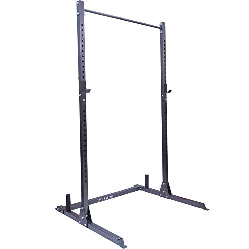 GYM MASTER Adjustable Squat Rack Power Cage and Pull Up Bar
