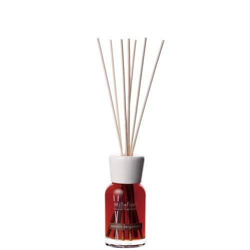 Millefiori Milano Sandelholz Bergamotte Diffusor Natural, Glas, braun, 6,8x 26,1x 6,6cm