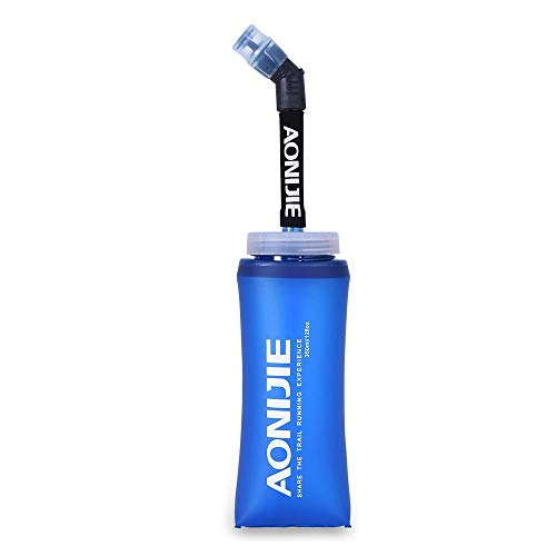 Botella blanda comprimible Docooler con pajita, sin BPA, para corredores, 350ML(1PCS), 350...