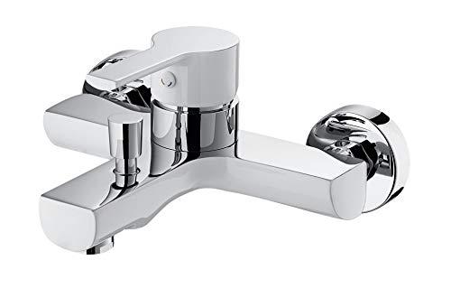 GRIFERIAS Borrás ROM0563CB Tweekleurige kraan voor badkamer en douche met douche, wandhouder en handleiding, chroom/wit