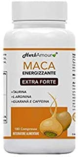 HerbAmour Maca I 180 Cpr. Per 6 Mesi I Cpr. Ad Alto Dosaggio In E.S. + L-Arginina + Vitamina B6 + Zinco + Taurina + Guaran...