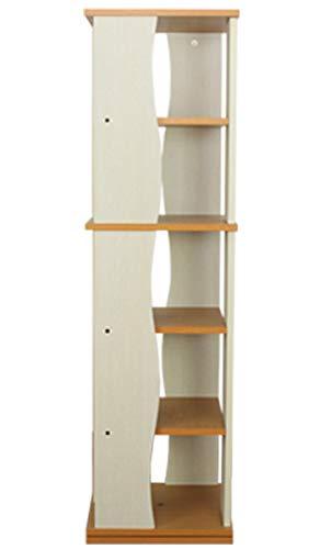 回転ラック 5段 ホワイト dvd タワーラック 回転 ラック 木製 シェルフ おしゃれ 収納 DVDラック CDラック 収納 大容量 スリム タワー コレクション