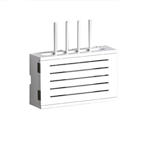 MNBVH Holz Router Regal, WiFi Router Storage Box, Router Box Wandhalterung, WLAN Box, Wandbehang Router Dekorative Box, Kabel Management Box Wand Regal D
