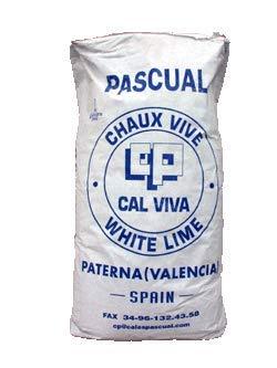 CAL VIVA EN POLVO S. 20 KG.
